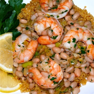 The shrimp with the lemon is a winning combination!