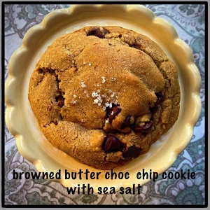 Chocolate with sea salt is almost perfection. Add Browned butter...you are there.