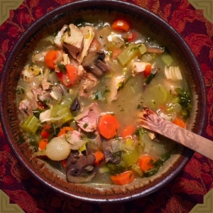 This is a great soup to use up all those Thanksgiving leftovers.