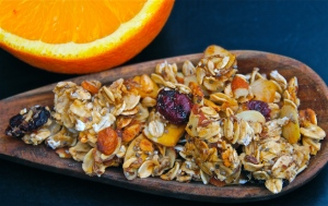 Not too sweet and very healthy, this granola adds a nice crunch to any breakfast!