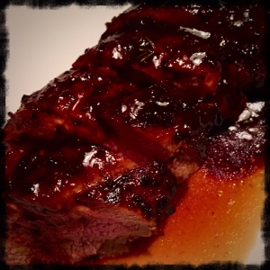 Moist pork with a fabulous glaze!