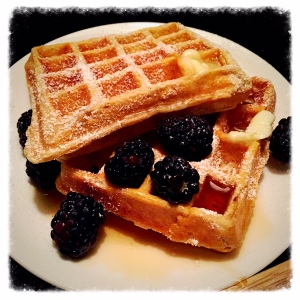 Waffles for Danny this morning!