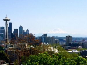 Space Needle and Mt. Ranier