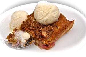 Even folks who don't like rhubarb like this cake!