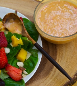 The mango dressing here is the star of this show!