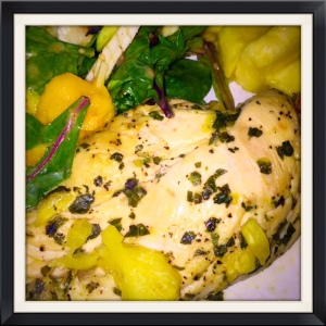 This is a fast, easy chicken recipe...nothing fancy but has a lot of fresh herb flavor!