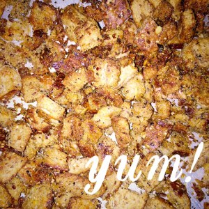 Homemade Croutons are so delicious!