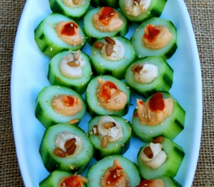 Super fast and easy way to make a pretty appetizer.